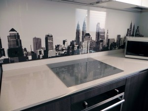 cucina con Wall Panel Skyline